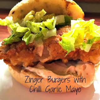Zinger Burgers.
