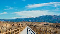 La vía verde del Almanzora transcurre por el antiguo trazado de la línea de ferrocarril Guadix-Almendricos.