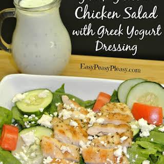Greek Grilled Chicken Salad with Greek Yogurt Dressing.