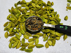 Photo: Getting Cardamom for Julekake starts with opening the pods and extracting the aromatic seeds.