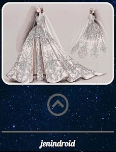 Sketch Of A Modern Wedding Dress - náhled