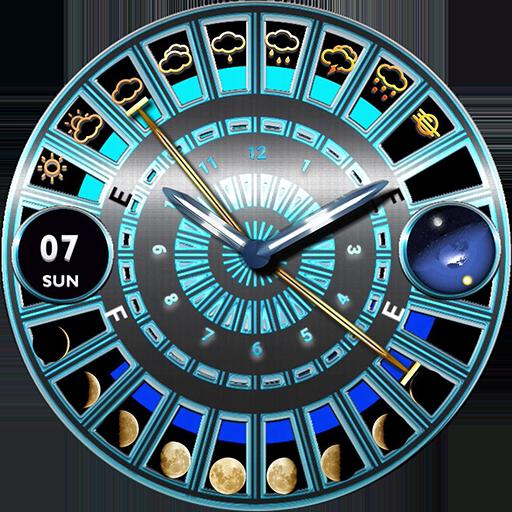 Circular Knight watch
