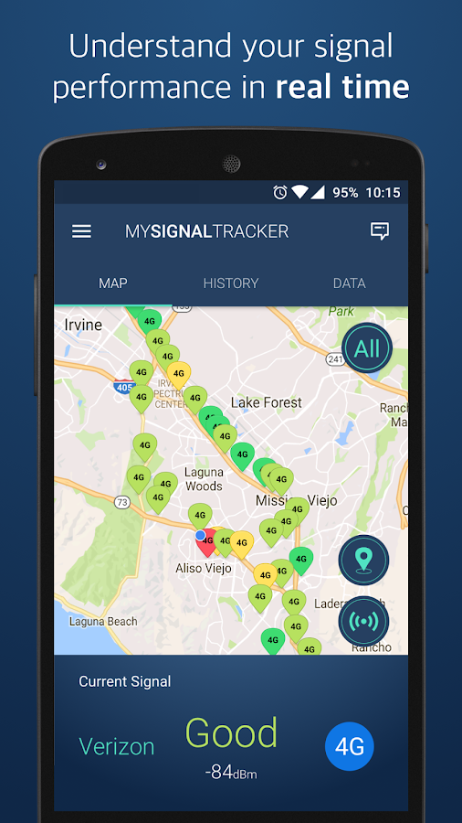 My Signal Tracker Coverage Map- screenshot