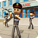 Stickman Bank Robbery NY Police Gun Shooting Games icon