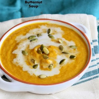 Vegan Curried Butternut Squash Soup. Glutenfree