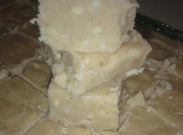 Secret Eggnog Fudge