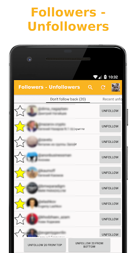 Followers - Unfollowers for PC