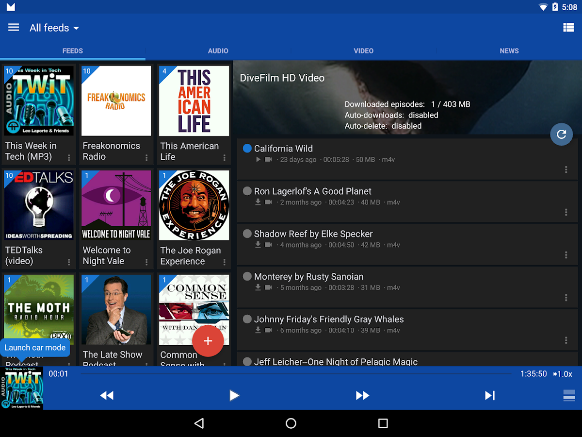 DoggCatcher Podcast Player- screenshot