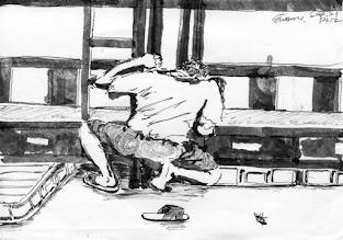 Photo: 小強滾出來!2012.09.21鋼筆 衛生要顧好 牢房勤打掃 小強躲在哪 用力把你找