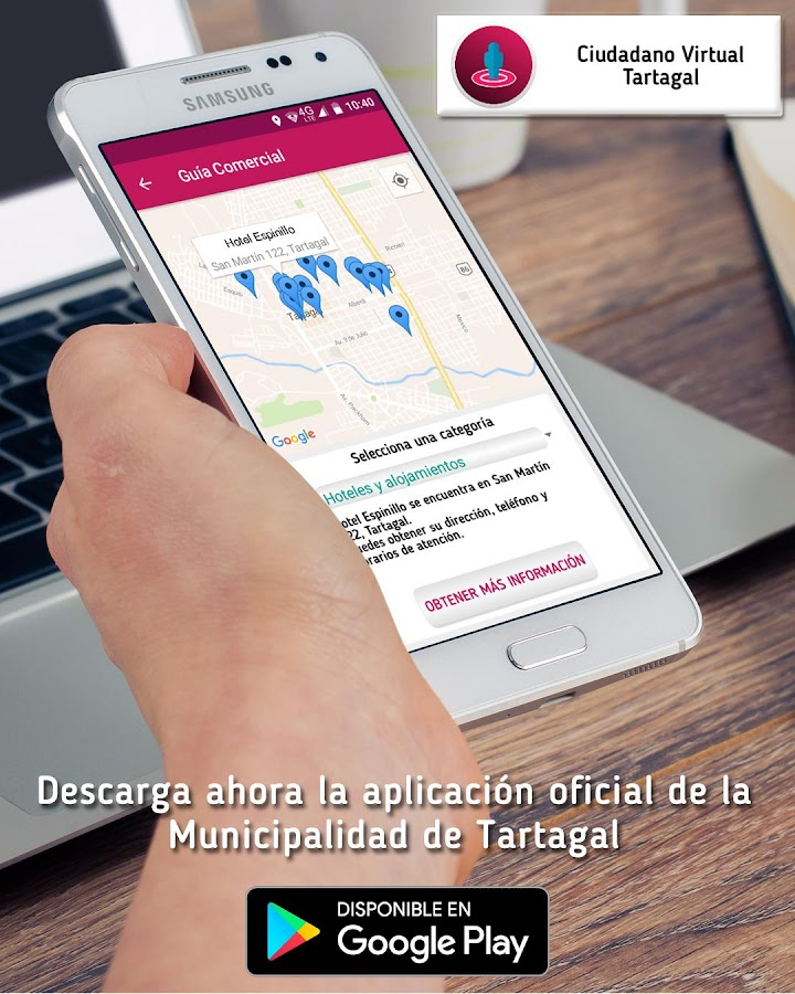 Ciudadano Virtual Tartagal: captura de pantalla