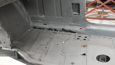 Photo: Drivers side floor and inner sill prior to starting work