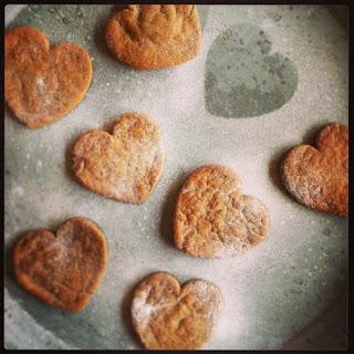 Valentine's Gingerbread Cookies.