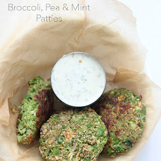 Baked Broccoli, Pea and Mint Patties.