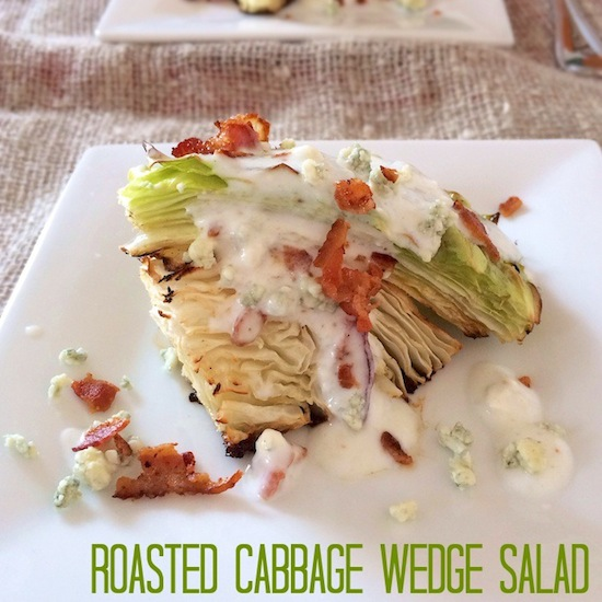 Roasted Cabbage Wedge Salad Recipe