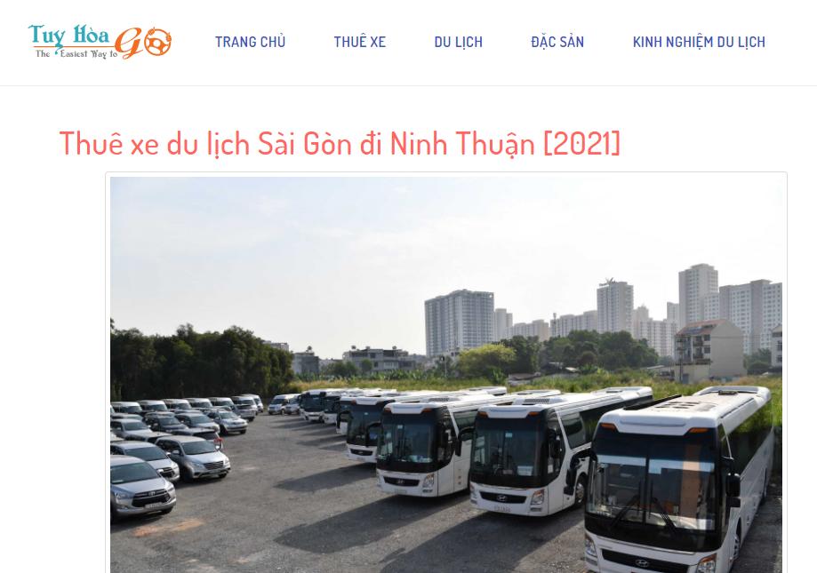 Tuy Hoà GO là 1 trong những chuyên trang cập nhật bảng giá thuê xe đi Phan Thiết chi tiết