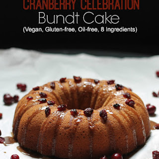 Gluten-Free Vegan Cranberry Bundt Cake