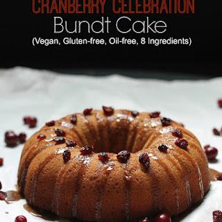 Gluten-Free Vegan Cranberry Bundt Cake.