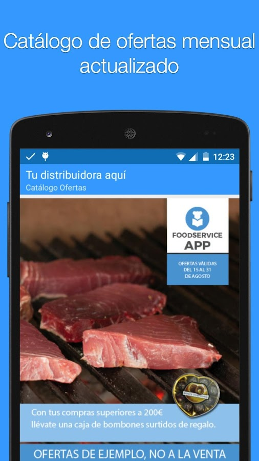 Food service App- screenshot