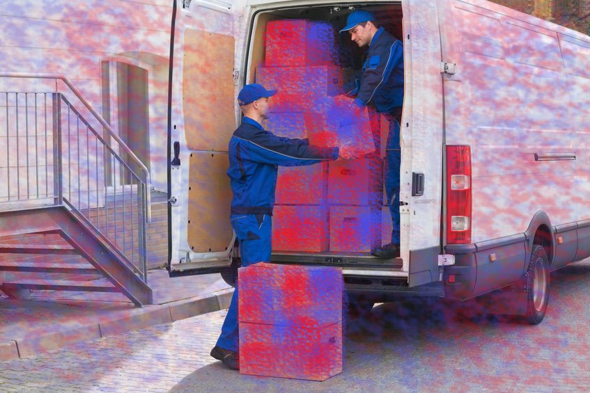 (Fig. 4 - Example of image of Truck in training set with the features learned by the AI system.)