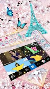 Girly Paris Keyboard Theme - náhled