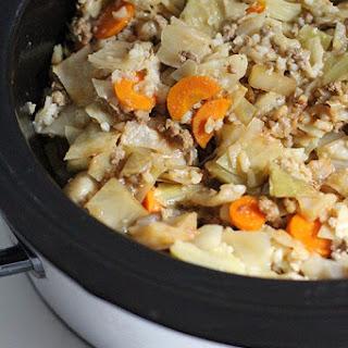 Crockpot Cabbage Casserole.
