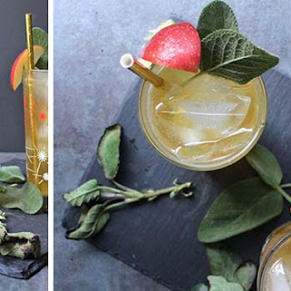 Hard Apple Cider Fall Cocktail with Smoked Sage.