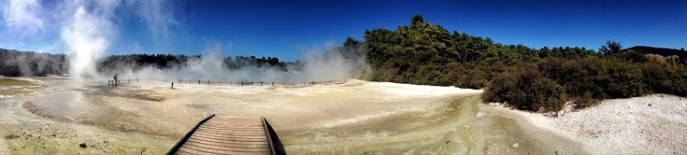 Nowa Zelandia, Orakei Korako, panorama