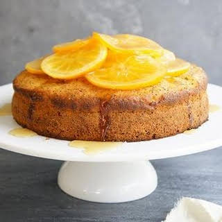 Moist Orange Poppy Seed Cake.