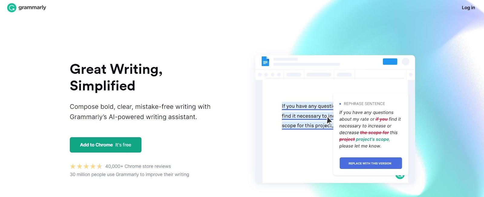 writing tool grammarly