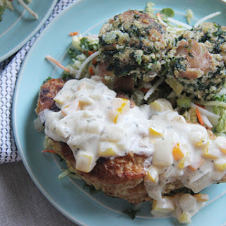 Chicken Cutlet with Smoked Potato Cakes