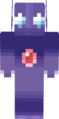 Purple crystal creature that repeats its name
