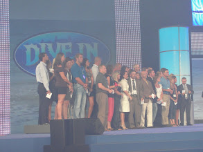 Photo: John and Di on stage for Atlantis Trip Incentive!