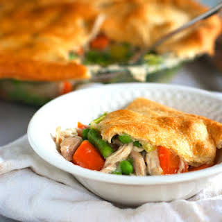 Garlic Chicken and Vegetable Pot Pie.