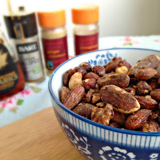 Maple Spiced Mixed Nuts.