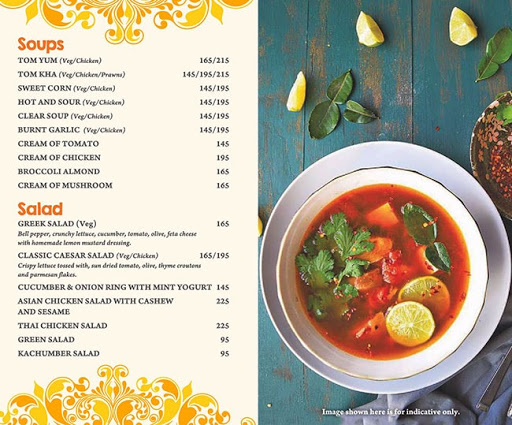 Masala Asia menu 1