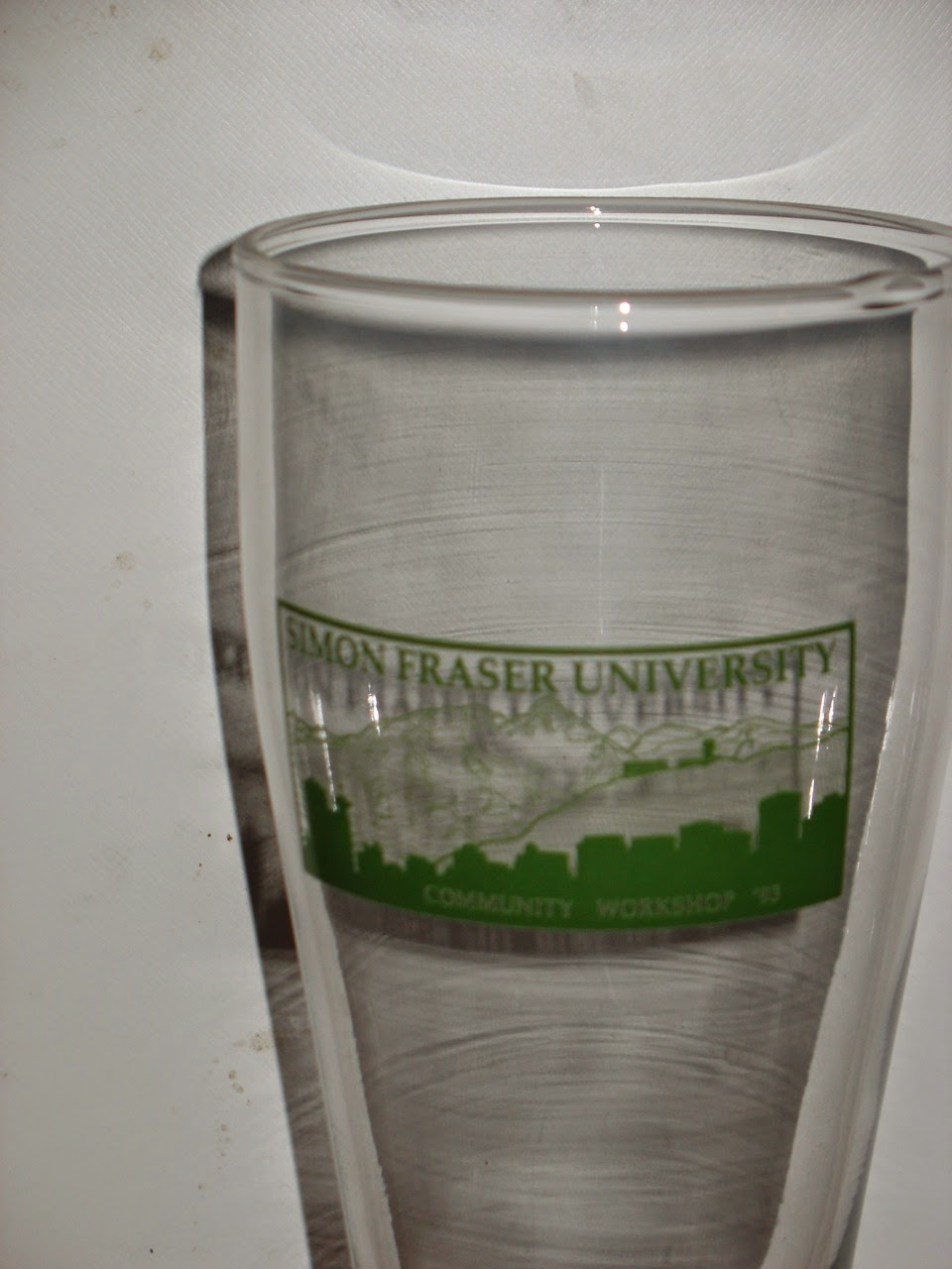 Photo: Community Workshop at SFU, 1993, beer glass