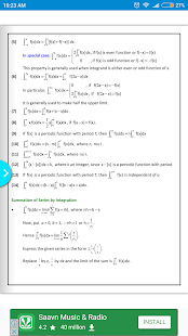 Maths Definite Integral Formula Book - náhled