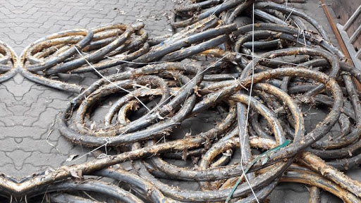 Cables recovered during the SAPS operation. (Source: SAPS)