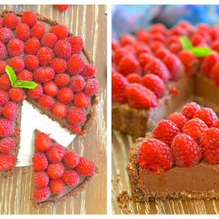 Healthy Raspberry Chocolate Fudge Tart