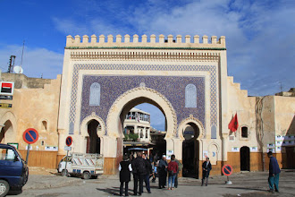 Photo: The blue gate, entry into the Fes medina