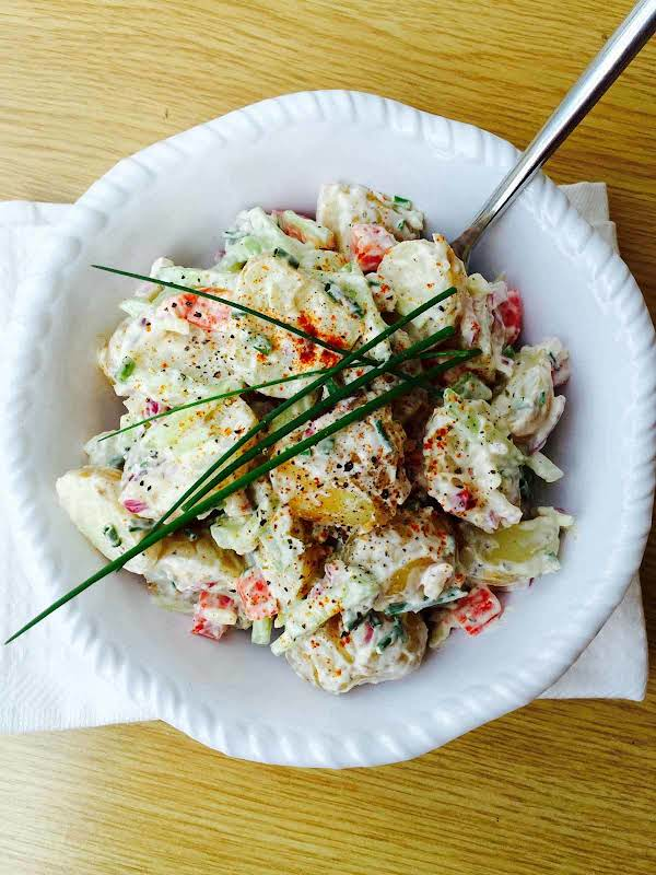 Potato, Cucumber And Garlic Salad Recipe