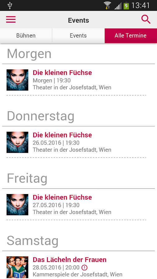 Josefstadt Theater Wien- screenshot