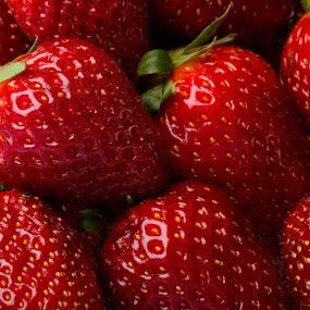 fraises by Olivier Tabary - Food & Drink Fruits & Vegetables ( fruit, rouge, pwcfruit, déssert, salade fruit )