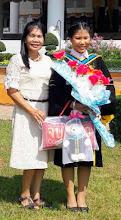 Photo: Piraya (Mint) and Mum, Somya at Graduation Day