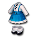 青いデニムドレス