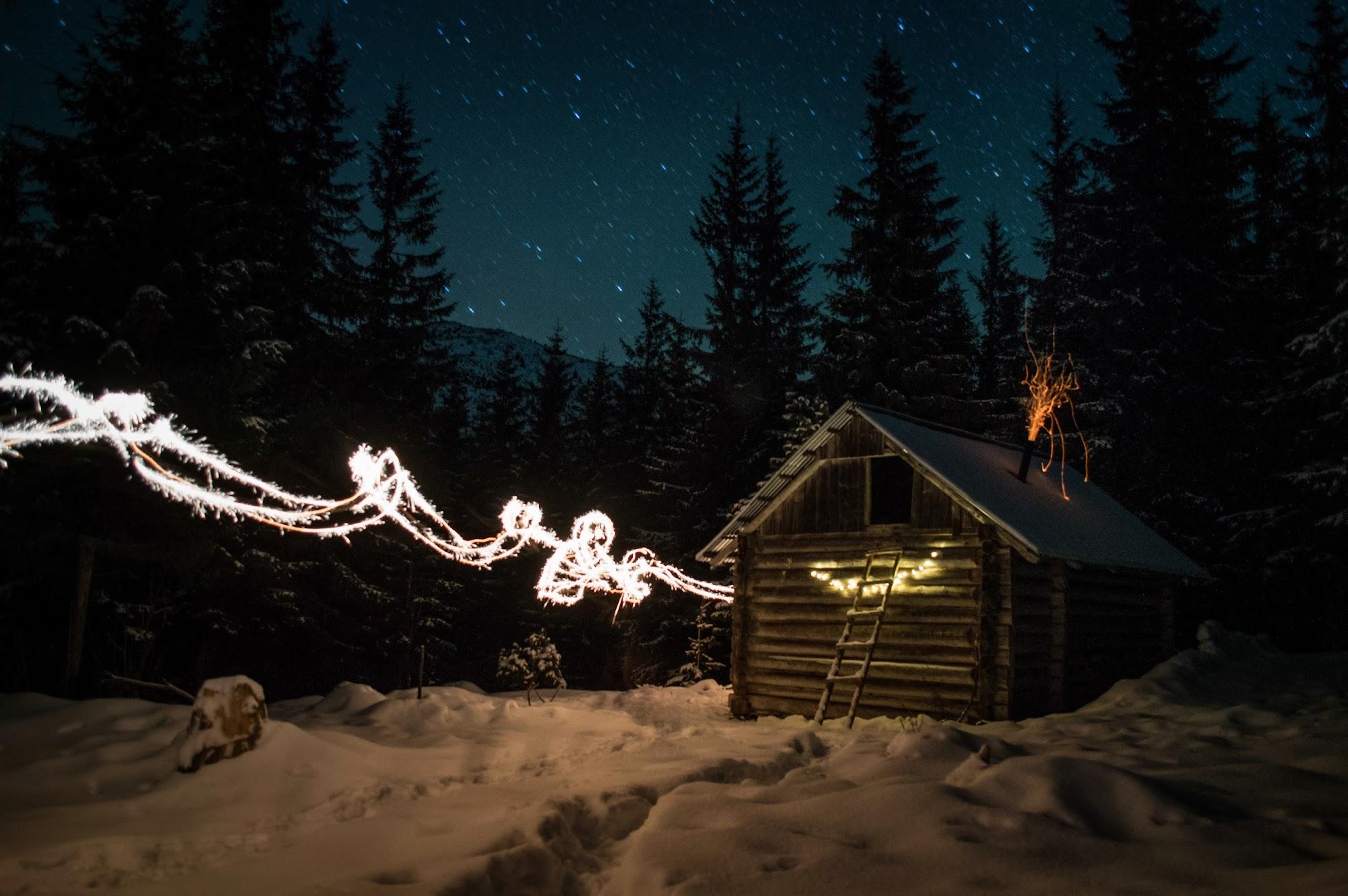 Морозна ніч під Яйком на довгій витримці