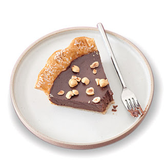Chocolate-Hazelnut Pie.