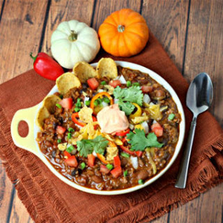 Firehouse Chili with Pumpkin Sour Cream