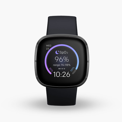 Fitbit Sense in Carbon with Graphite Stainless Steel