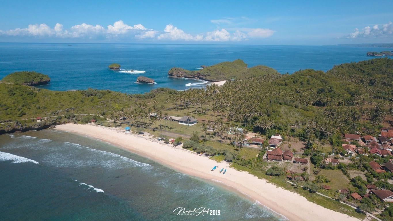 Pantai srau aerial view